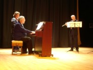 George Gwilt, James Douglas and Katharine Douglas at the Summertime Song Concert in Ullapool